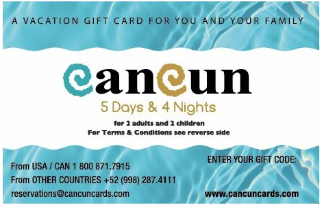 cancun travel card - Travel Gift Cards